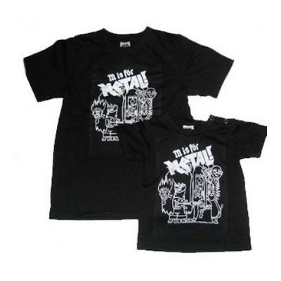 M is For Metal Kids Black T-shirt