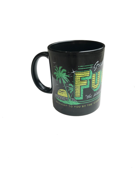 Cosmic Psychos - Fuckwit City Mug (Black) left detail