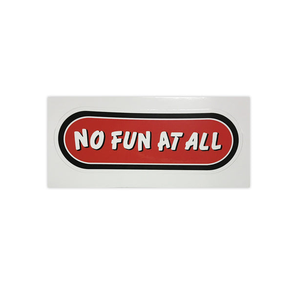No Fun At All - No Fun At All Logo Sticker