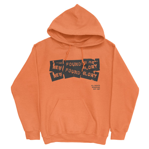 New Found Glory - 3 Tape Logo Pullover (Safety Orange)