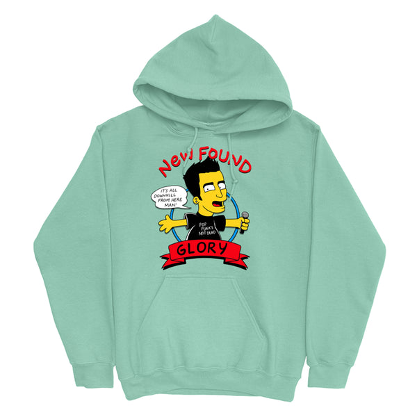 New Found Glory - Bart Jordan Pullover Hoodie (Mint)