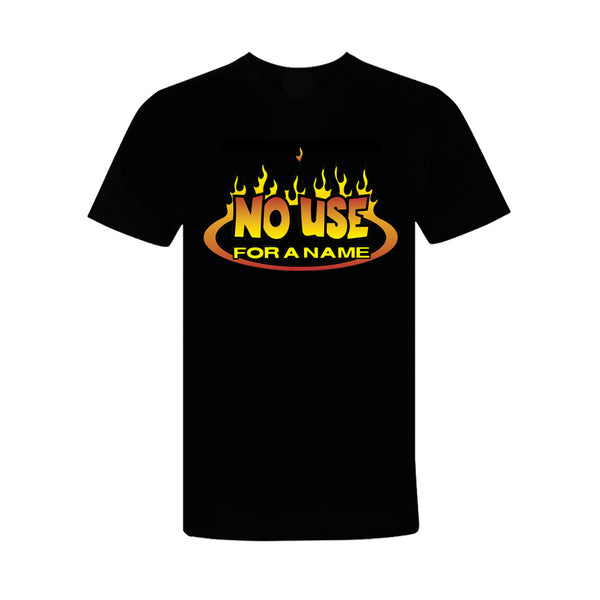 No Use For A Name - No Use For A Name Flame Logo T-Shirt (Black)