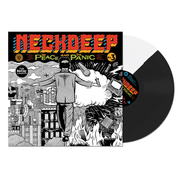 Neck Deep - The Peace and The Panic LP (Half Black/Half White)
