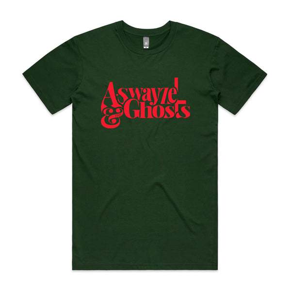 A. Swayze & The Ghosts - Red Logo Tee (Forest Green)