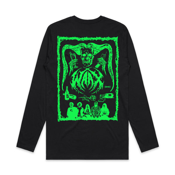 WAAX - Old School Death Metal Logo Longsleeve (Black) back
