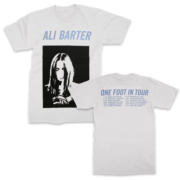 Ali Barter - One Foot In Tour Tee (White)