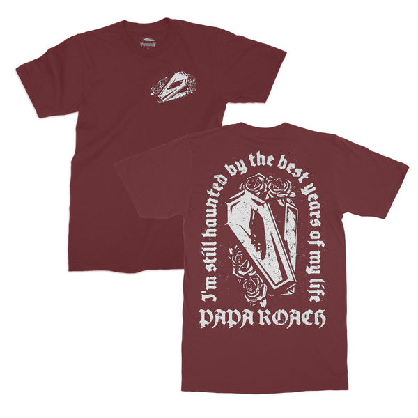 Papa Roach - Haunted Tee (Maroon)