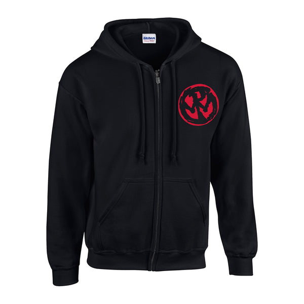 Pennywise - Straight Ahead Tour Zip Hoodie (Black)