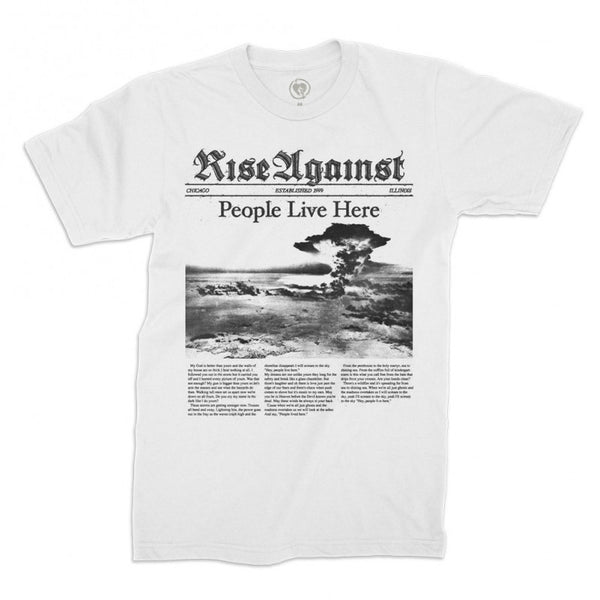 Rise Against People Live Here Tee (White)