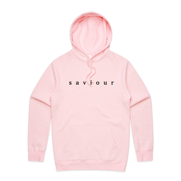 Saviour - Embroidered Logo Hoodie (Pink)