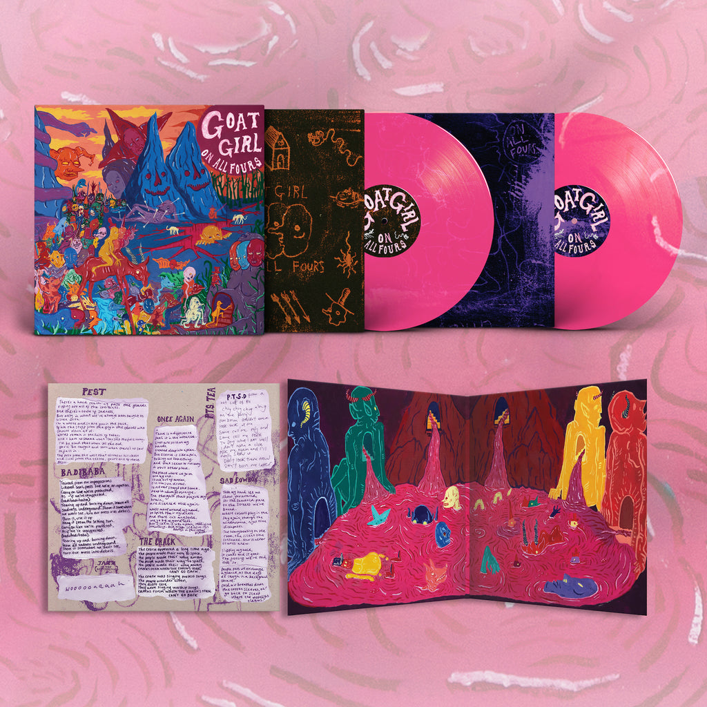 Goat Girl - On All Fours 2LP (Clear Pink)