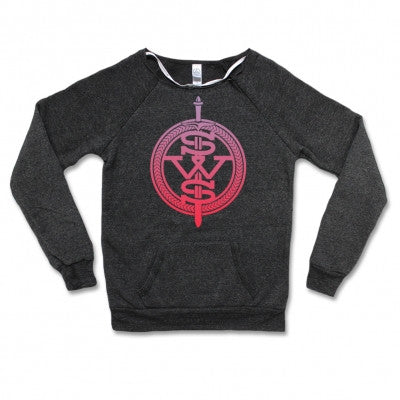 Sleeping With Sirens Pink Symbol Logo Womens Crewneck