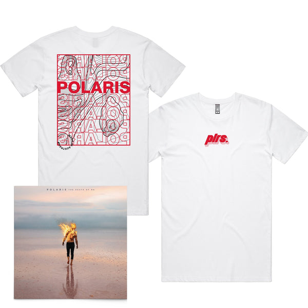 Polaris - The Death of Me CD  + Landscape Tee (White)