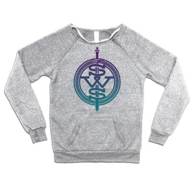 Sleeping With Sirens Purple Fade Symbol Logo Womens Crewneck