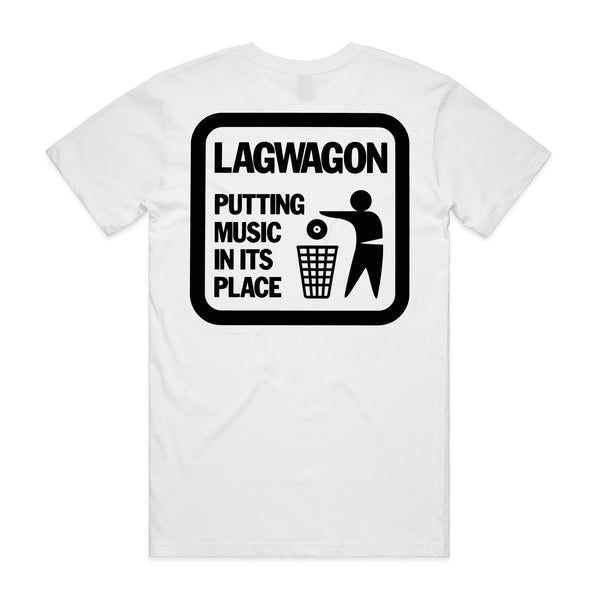 Lagwagon - Putting Music In It's Place T-shirt (White) back