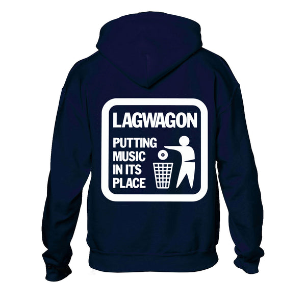 Lagwagon - Putting Music In It's Place Hoodie (Navy)