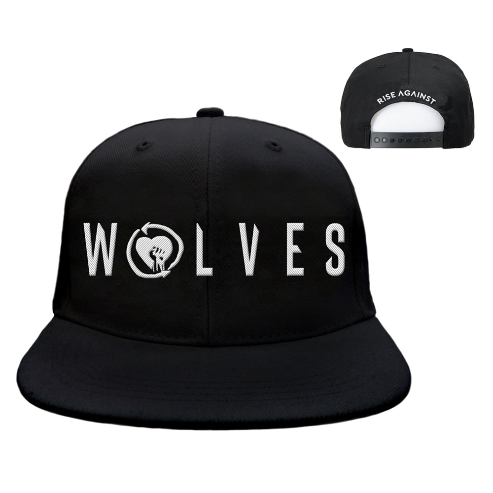 Rise Against - Wolves Snapback Hat (Black)
