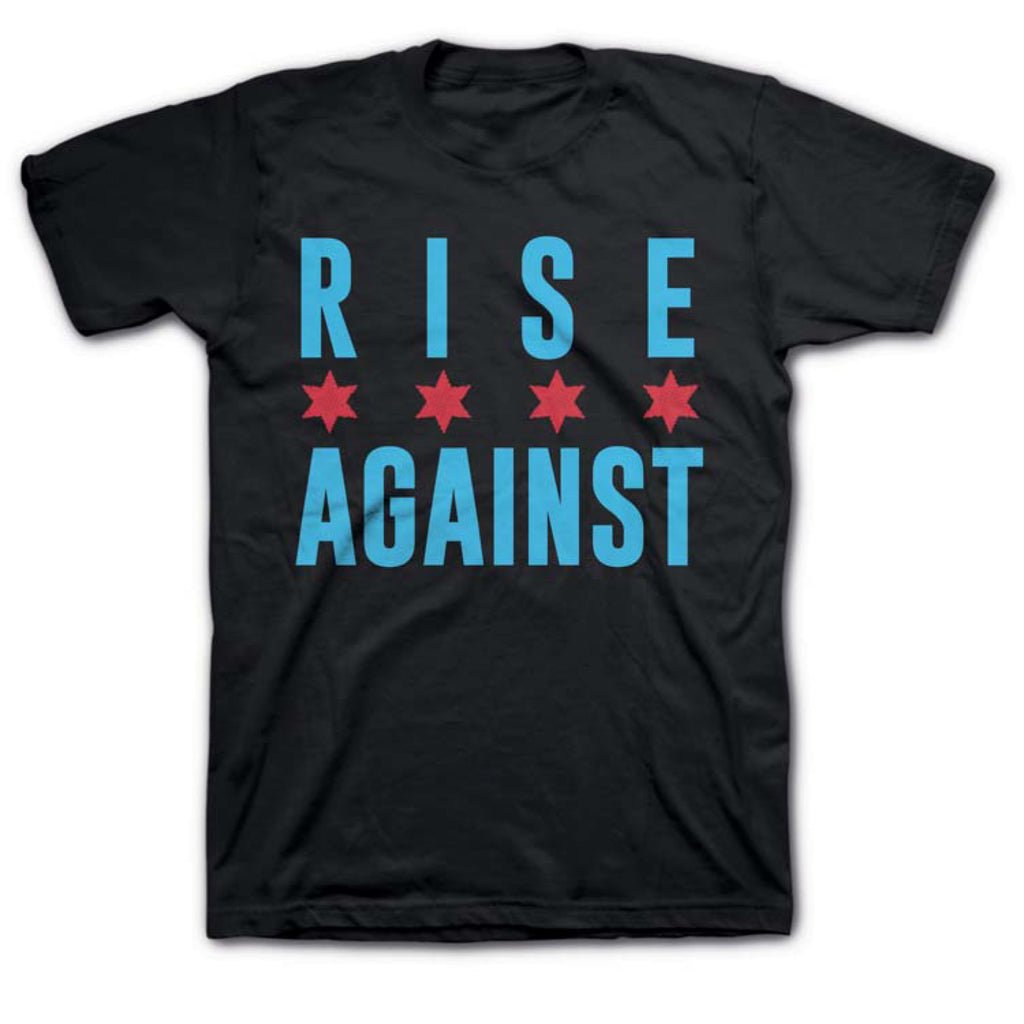 Rise Against - Chicago Flag T-shirt (Black)