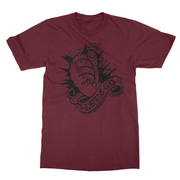 Let's Go T-shirt (Burgundy)