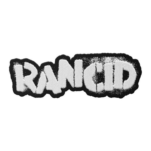 Rancid - Logo Die Cut Patch (White)