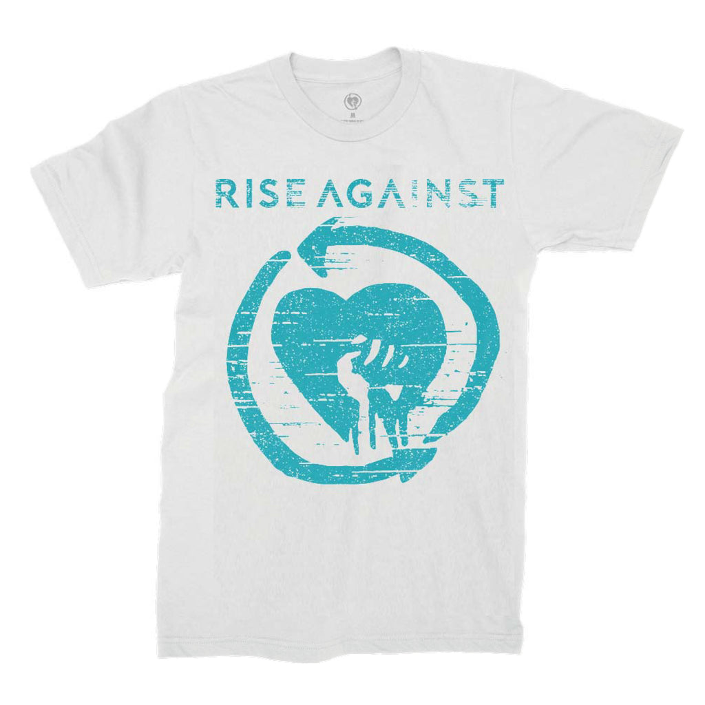 Rise Against - Wolves Blue Tee (White)