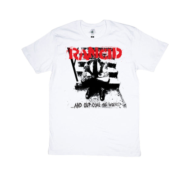 ...And Out Come The Wolves T-shirt (White)