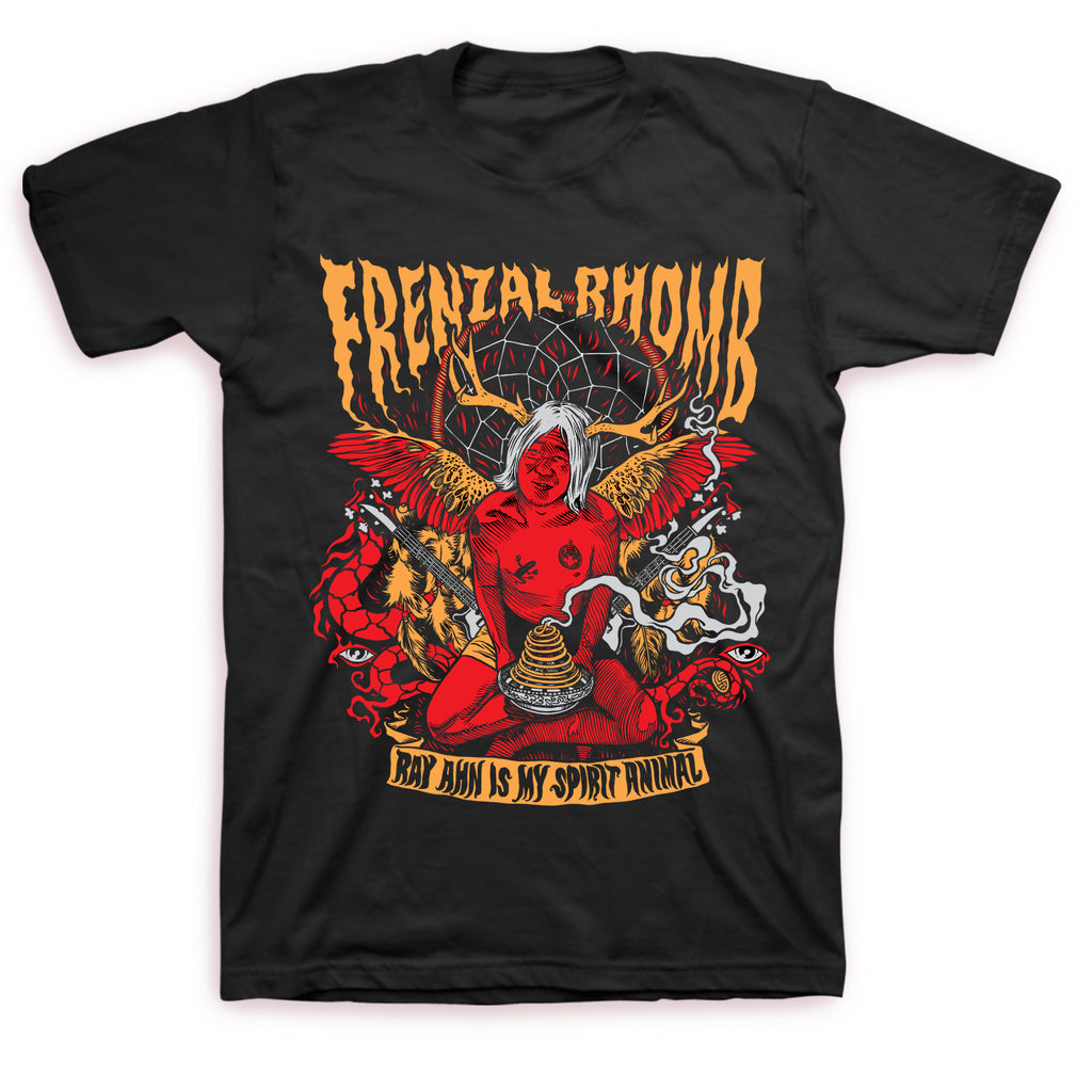 Frenzal Rhomb - Ray Ahn Is My Spirit Animal T-shirt (Black)
