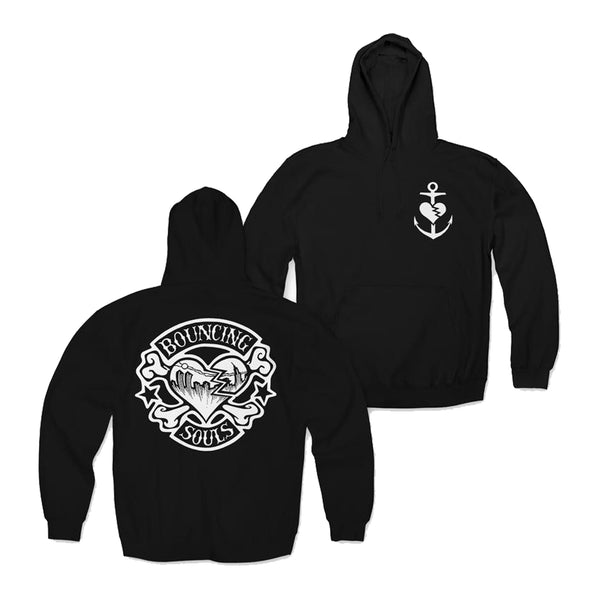 The Bouncing Souls - Rocker Heart Pullover Hoodie (Black)