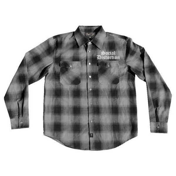 Social Distortion - Old English Flannel (Grey)