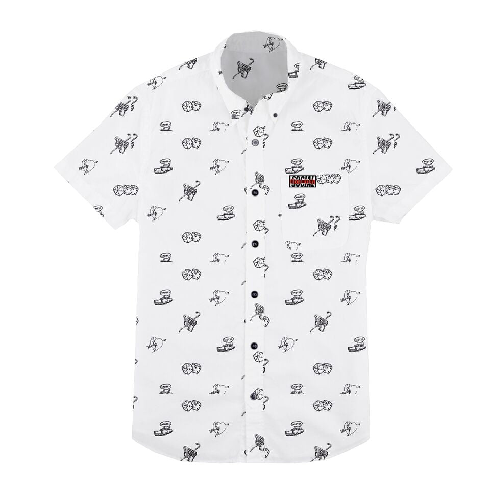 Social Distortion - White Button Down Collared Shirt