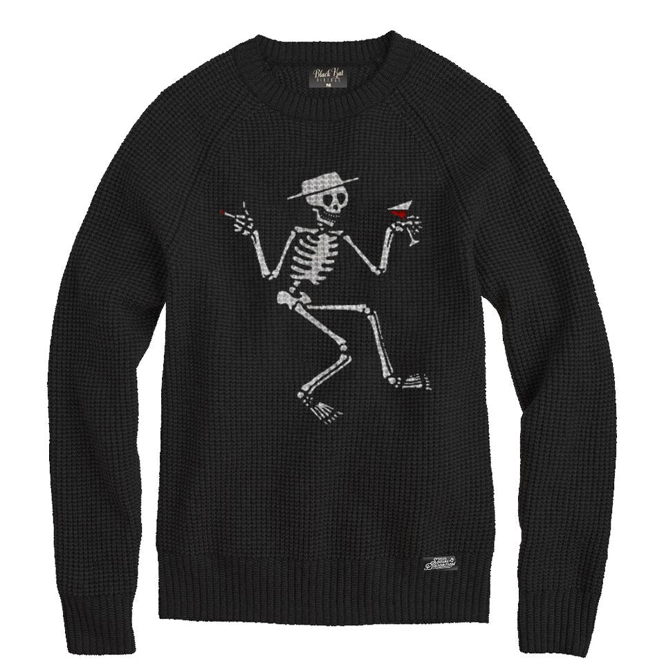 Social Distortion - Skelly Knit Sweater (Black)