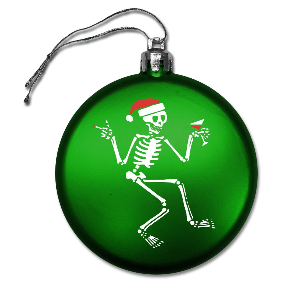 Social Distortion - Skelly Round Ornament