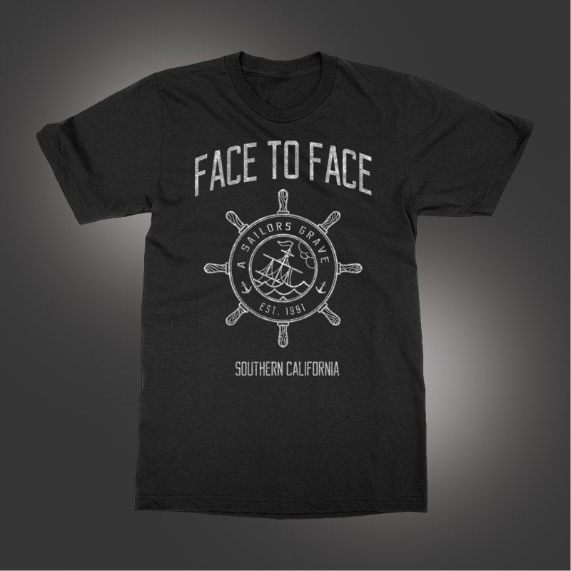 Face To Face - Sailor's Grave T-shirt (Black)
