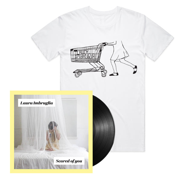 Laura Imbruglia - Scared of You LP (Black) + Shopping Trolley Tee (White)