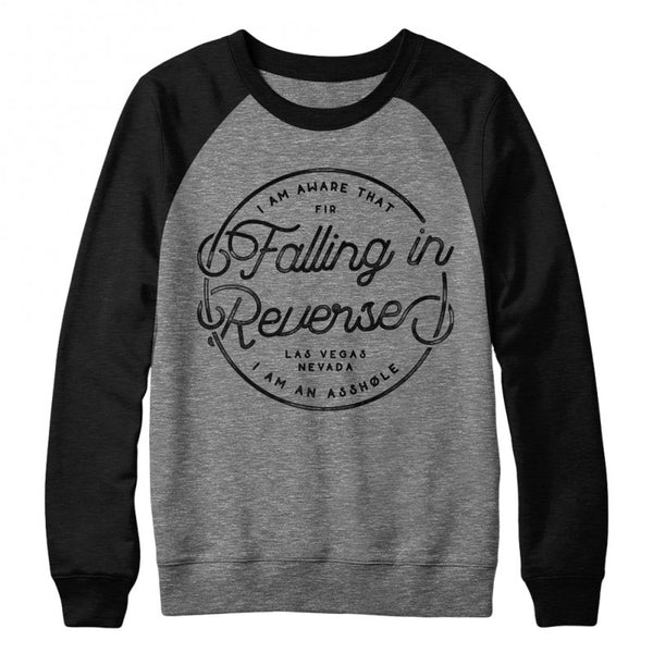 Falling In Reverse - Script Crewneck (Black/Grey)