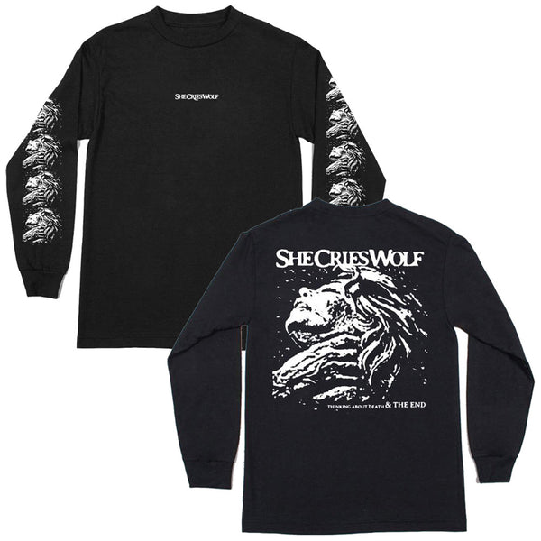 She Cries Wolf - Thinking About Death Long Sleeve Front & Back