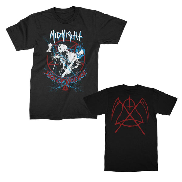 Midnight - Shox of Violence T-shirt (Black)