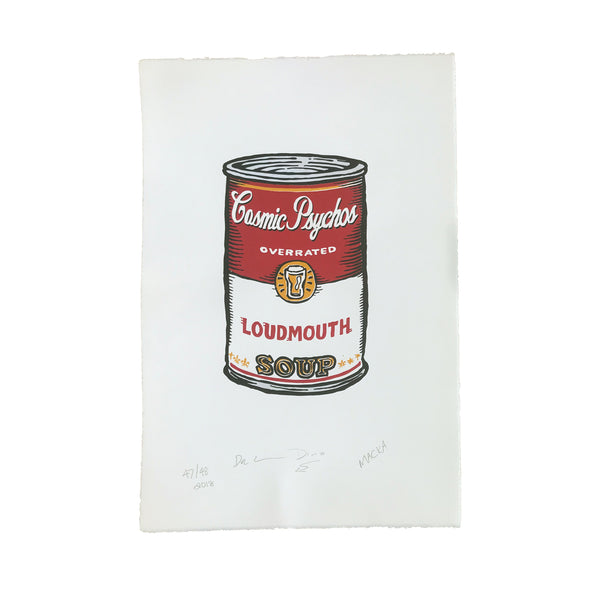 Cosmic Psychos - Loudmouth Soup Signed Print