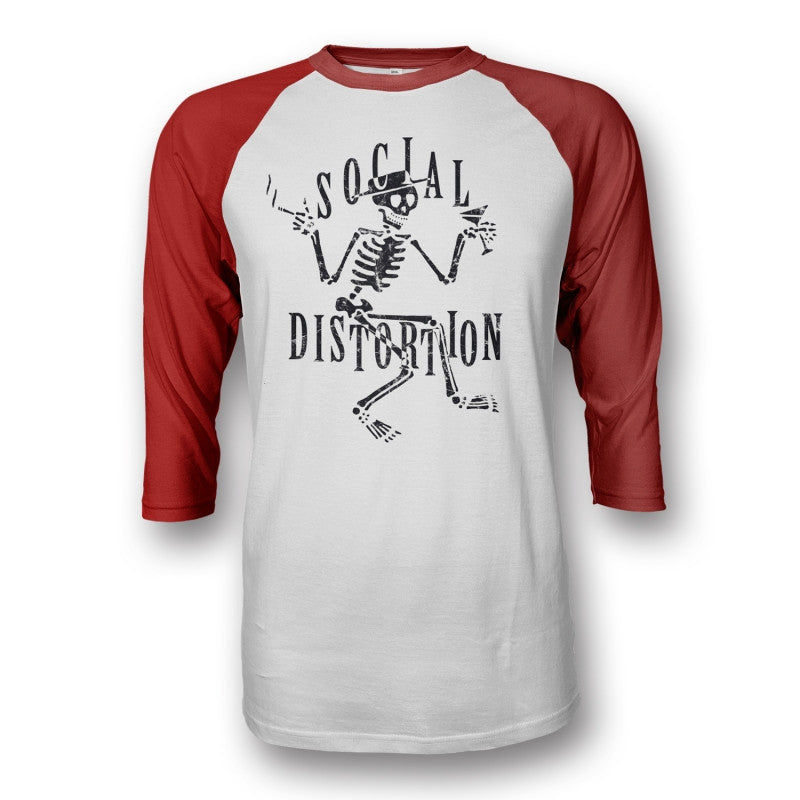 Social Distortion Skelly Raglan Red/White