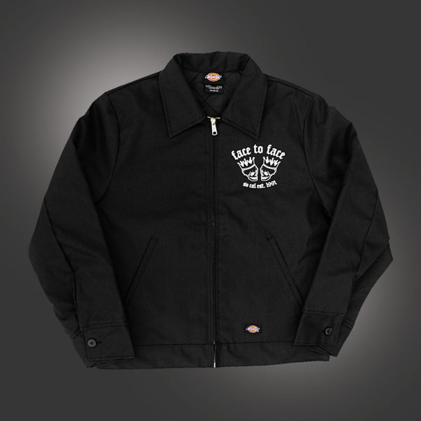 Face To Face - Skull Crown Lined Work Jacket (Black)