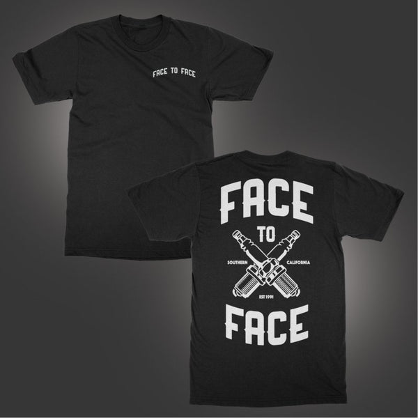 Face To Face - Spark Plug T-shirt (Black)