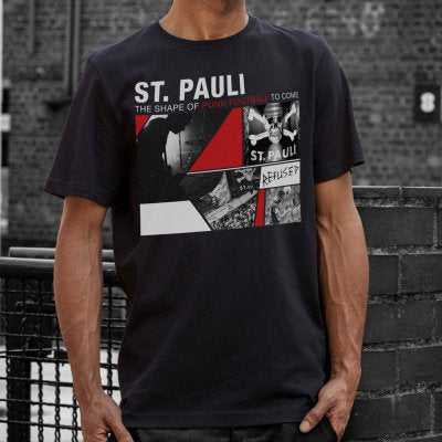 FC St Pauli / Refused Collab Tee (Black) front
