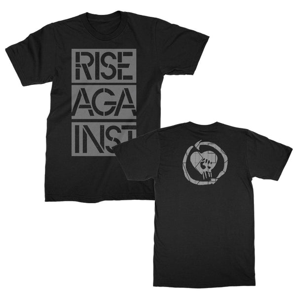 Rise Against - Stacked Stencil Ghost Notes T-shirt (Black)