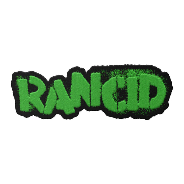 Stencil Logo Die Cut Patch (White or Green)