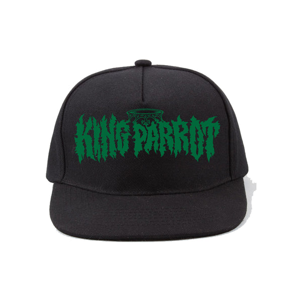 King Parrot - Green Logo Snapback Hat (Black)