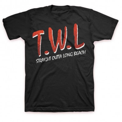 This Wild Life Straight Outta Long Beach T-shirt Black
