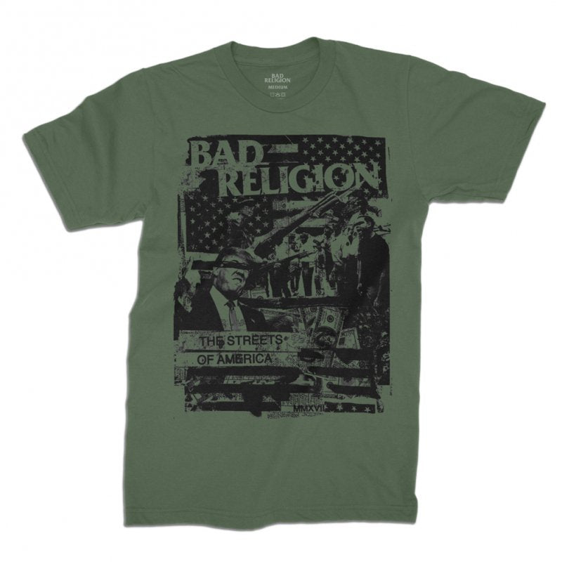 Bad Religion - The Streets of America Tee (Army Green)