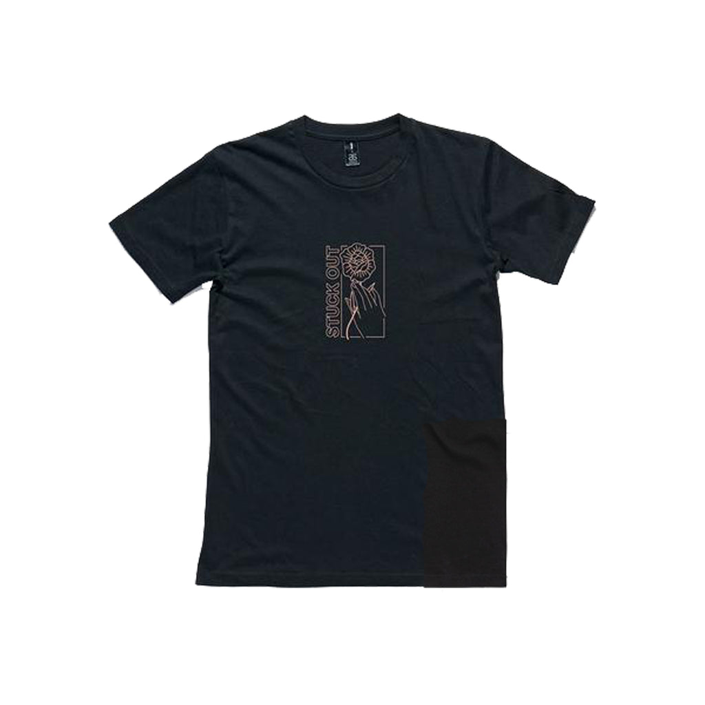 Stuck Out - Flower Tee (Black)
