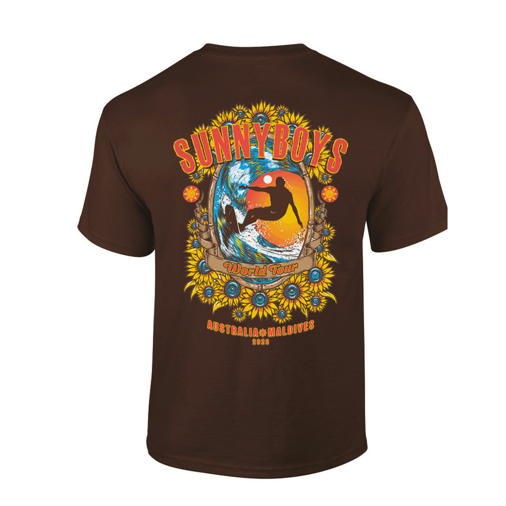 Sunnyboys - 2020 Tour T-shirt (Brown) back