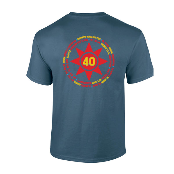 Sunnyboys - 40 T-shirt (Blue) back